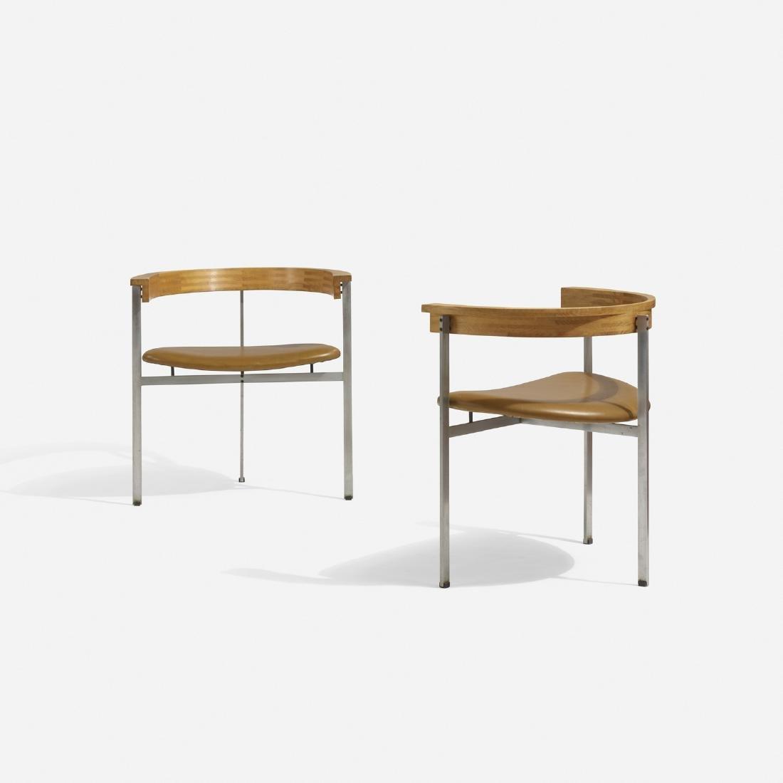 Poul Kjaerholm, PK 11 chairs, pair
