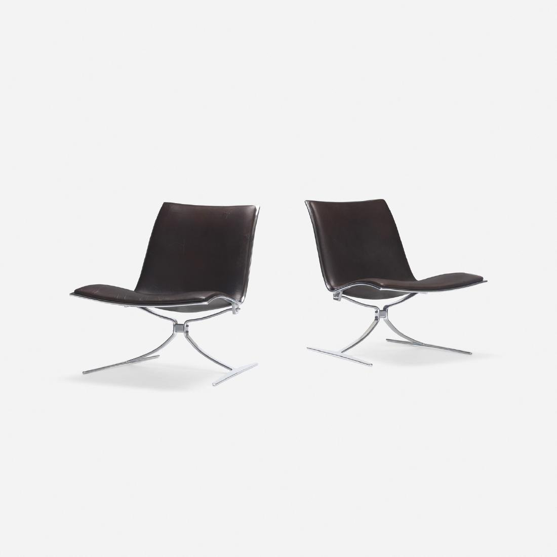 Jorgen Kastholm, Skater chairs, pair - 2