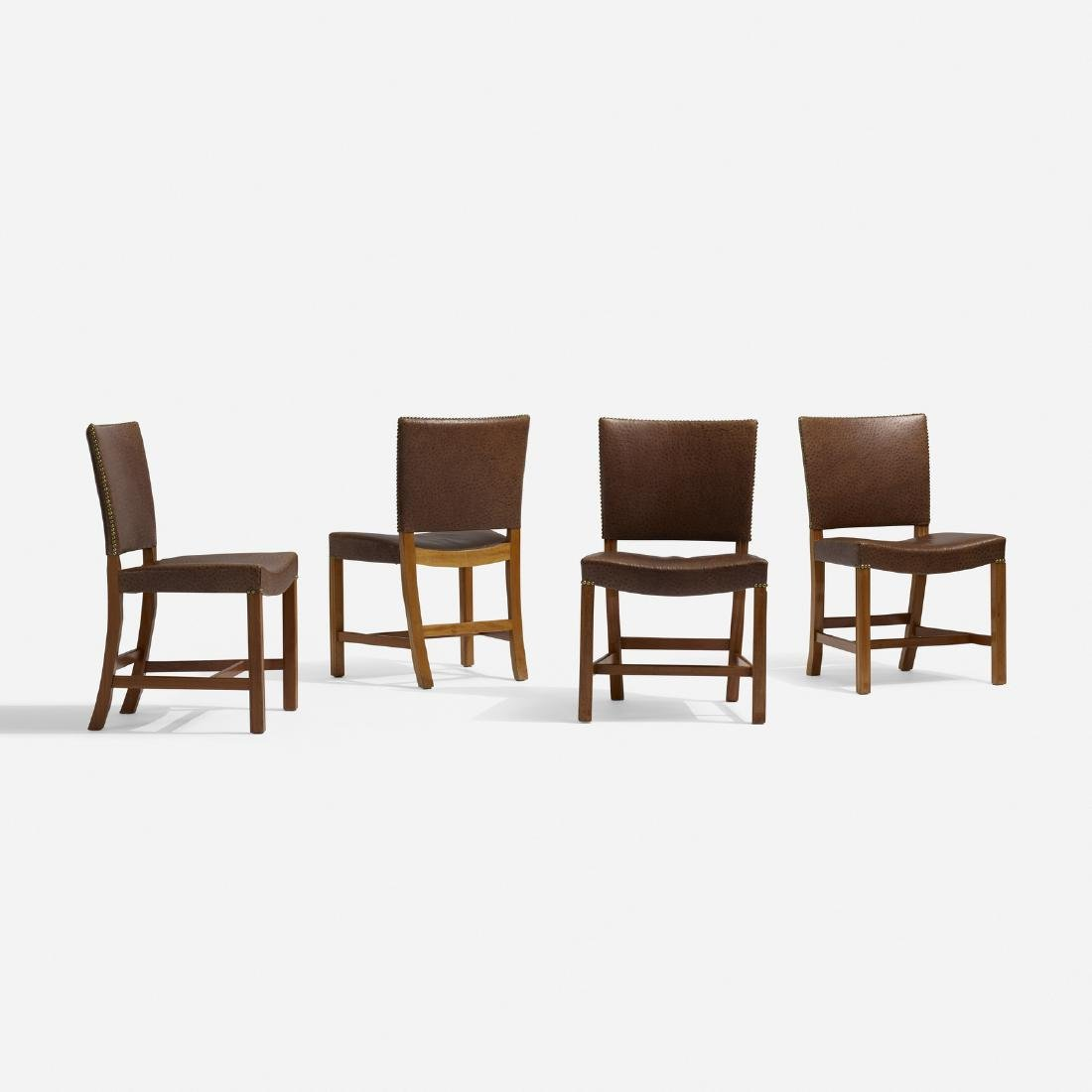 Kaare Klint, Barcelona chairs model 3758, set of four