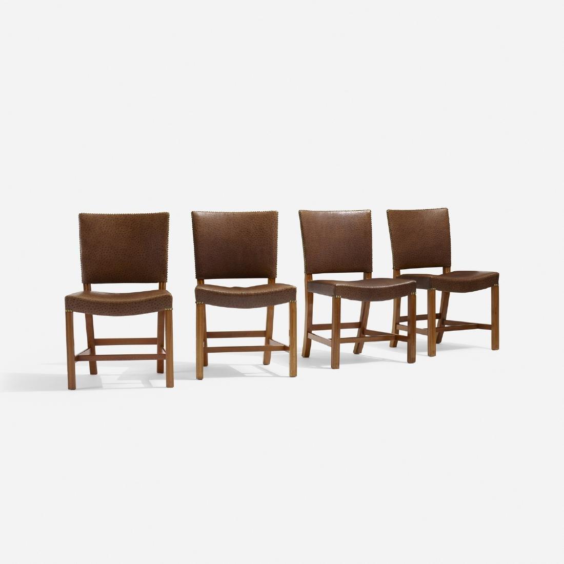 Kaare Klint, Barcelona chairs model 3758, set of four - 2