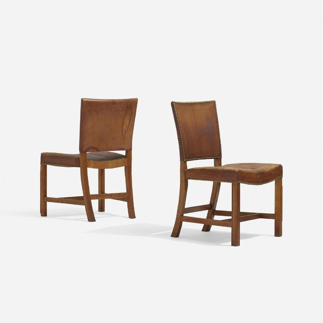 Kaare Klint, Barcelona chairs model 3758, pair