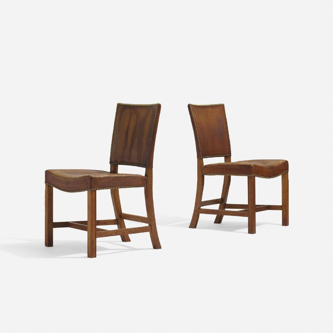 Kaare Klint, Barcelona chairs model 3758, pair - 2
