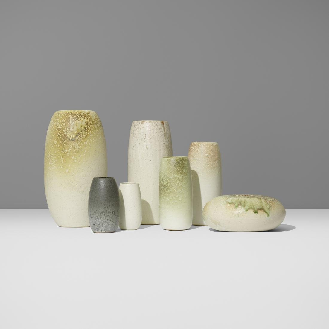 Aage and Kasper Wurtz, collection of seven vases