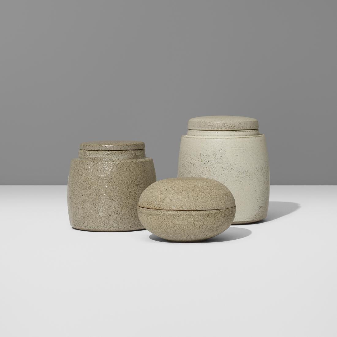 Aage and Kasper Wurtz, lidded vessels, set of three