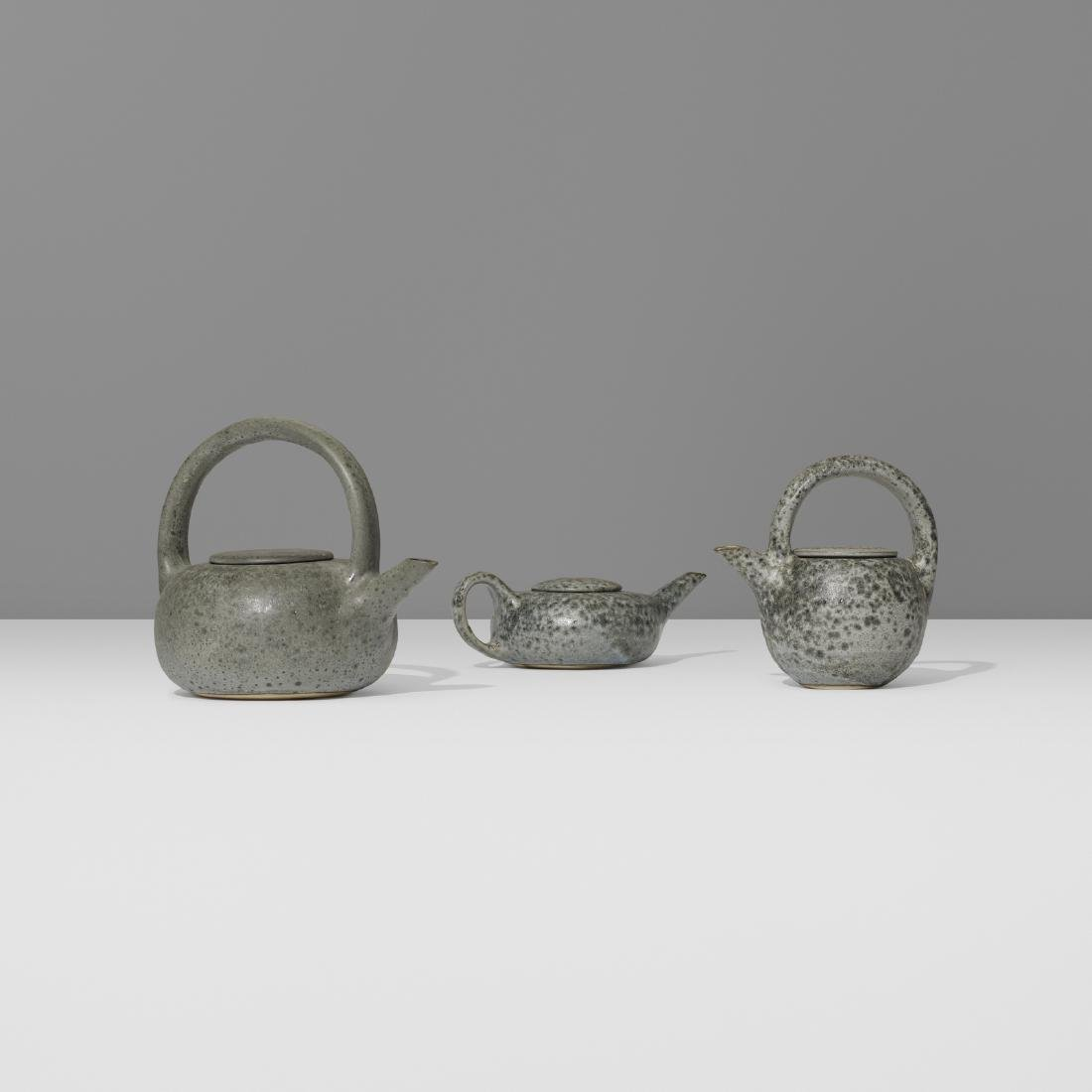 Aage and Kasper Wurtz, teapots, collection of three