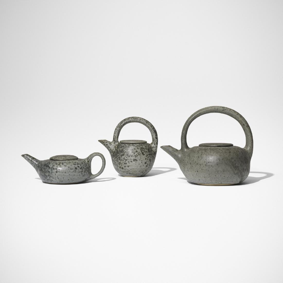 Aage and Kasper Wurtz, teapots, collection of three - 2