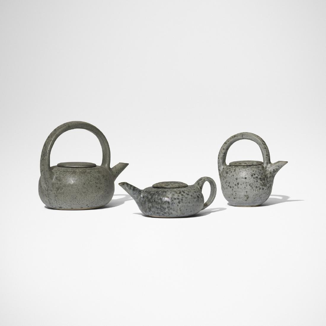 Aage and Kasper Wurtz, teapots, collection of three - 3