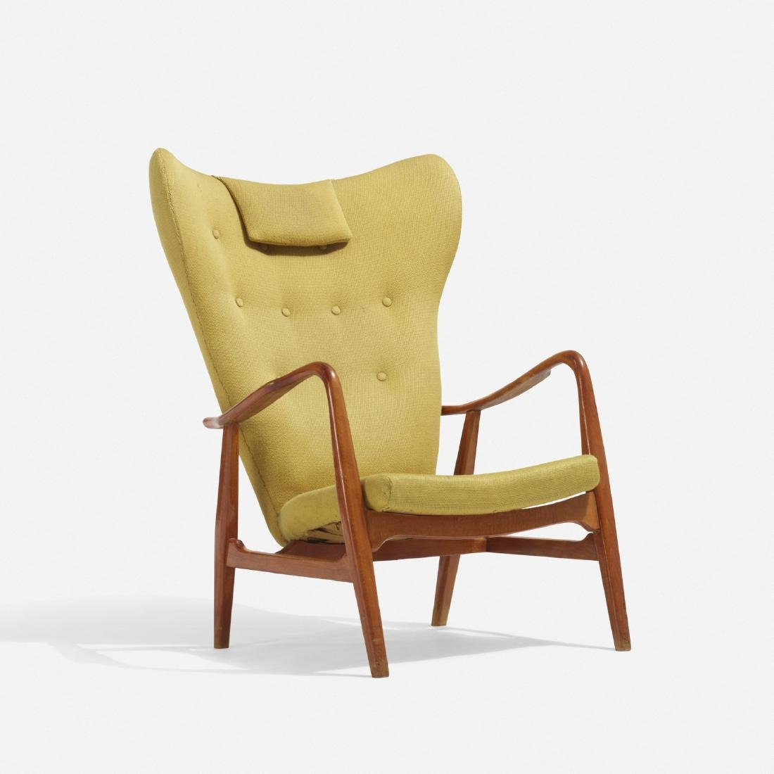 Acton Schubel and Ib Madsen, wingback armchair
