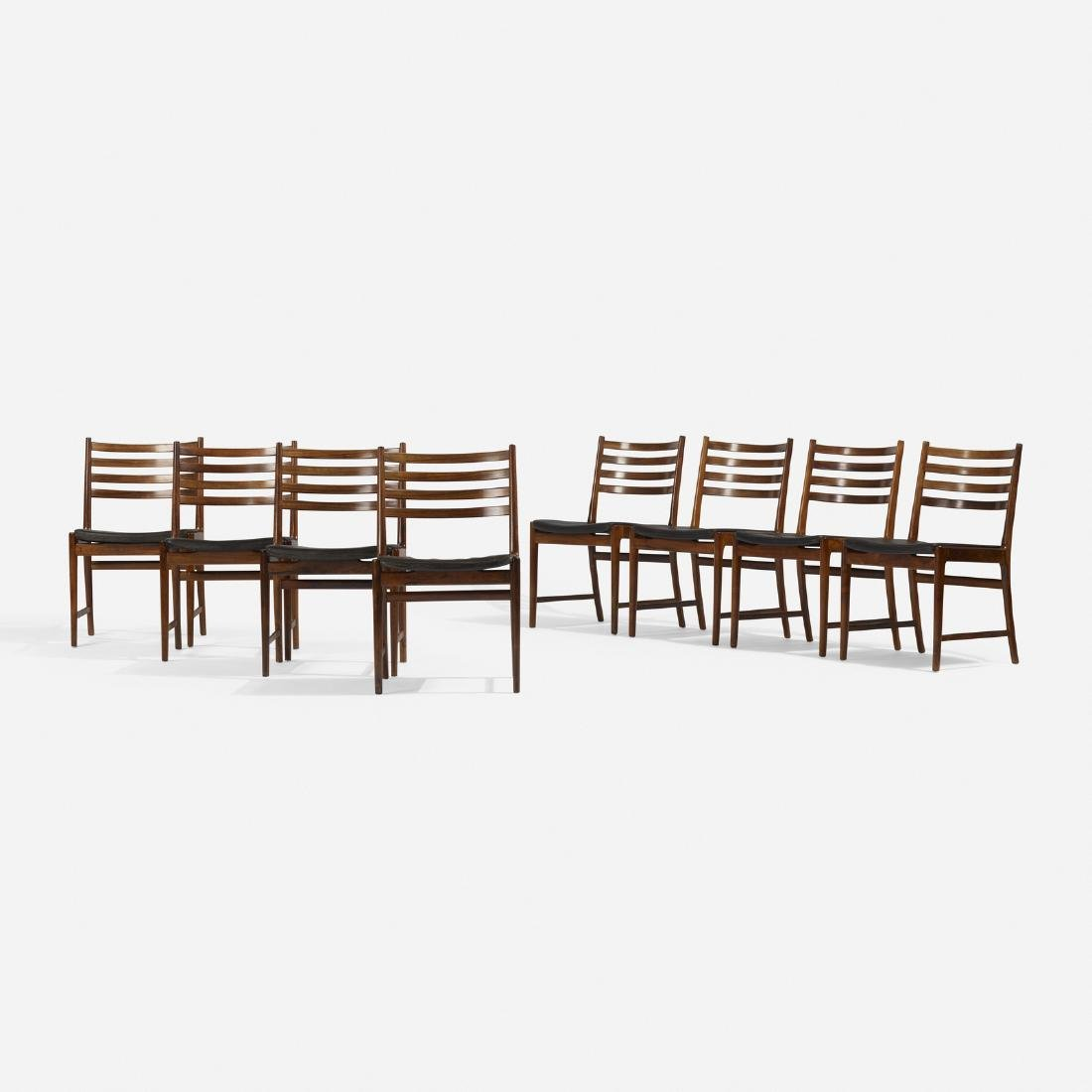Kai Lyngfeldt Larsen, dining chairs, set of eight