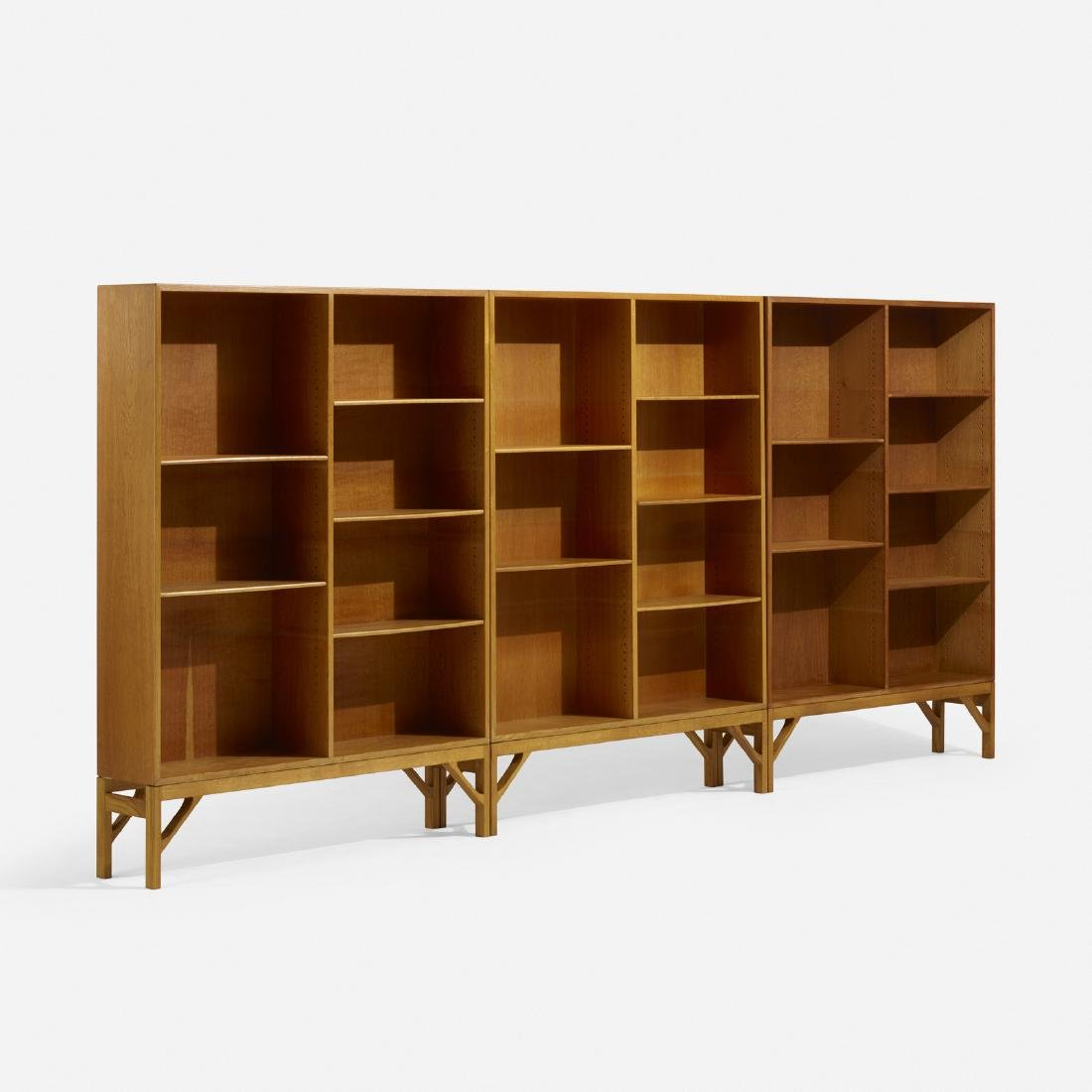 Borge Mogensen, bookcases, set of three