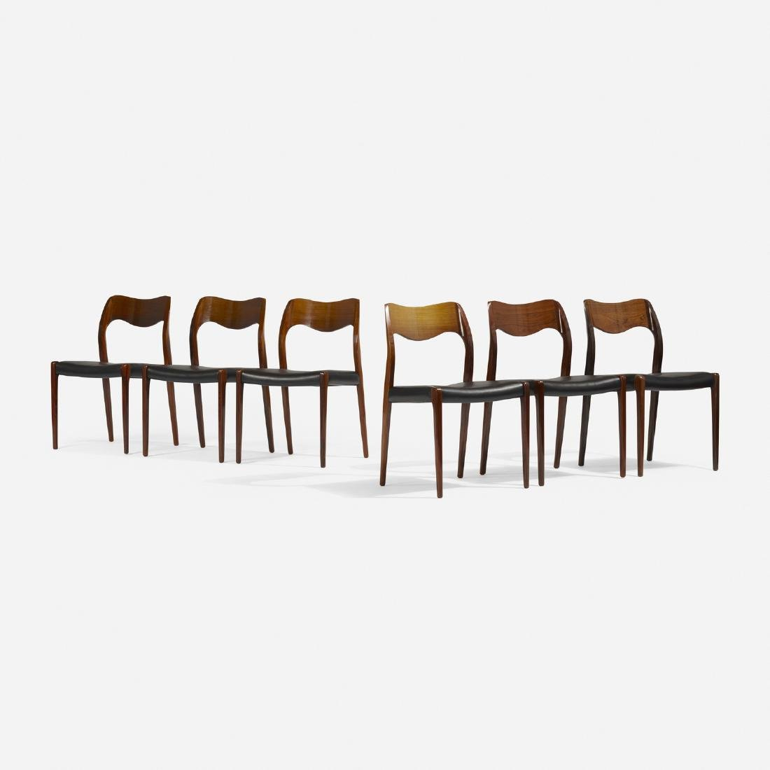 Niels O. Moller, dining chairs, set of six