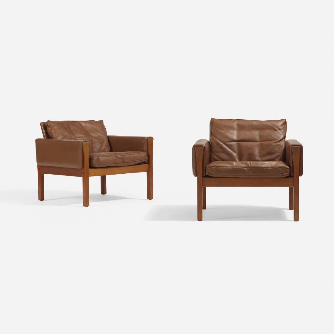 Hans J. Wegner, lounge chairs model AP62, pair