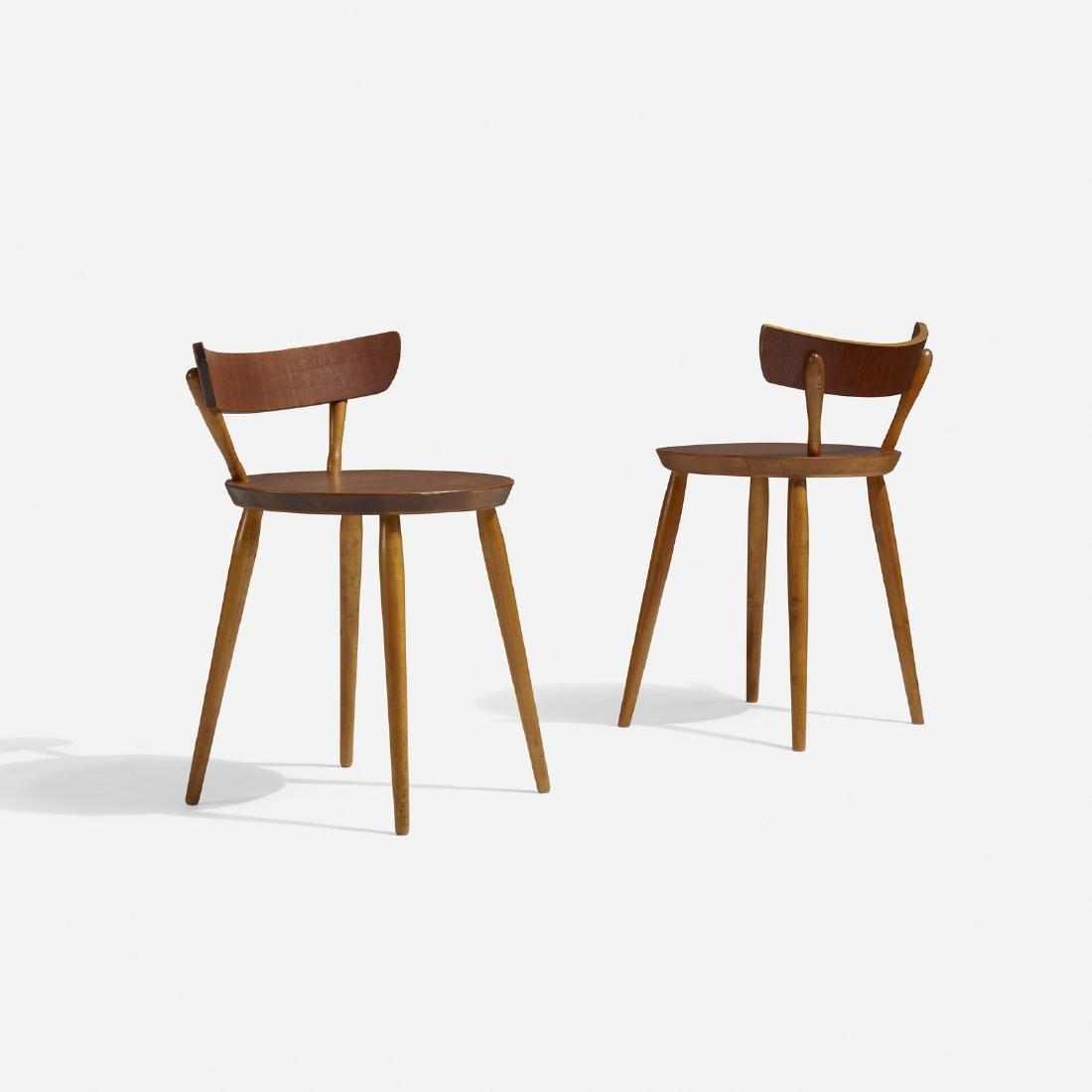 Danish, chairs, pair