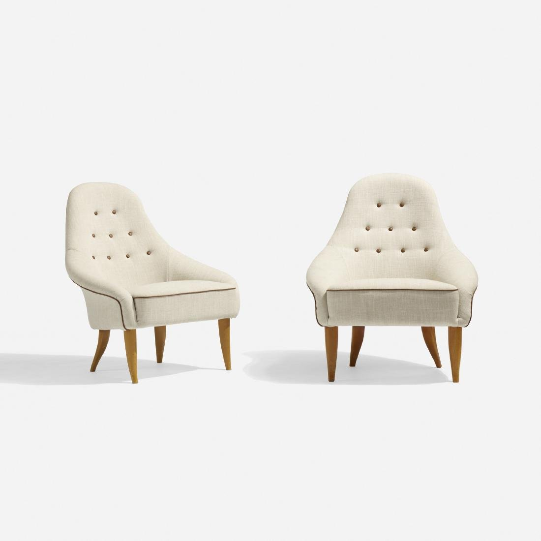 Kerstin Horlin-Holmquist, Eva lounge chairs, pair