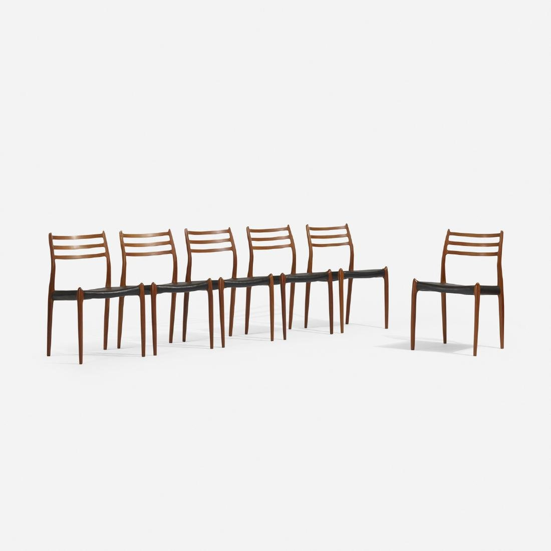 Niels O. Moller, dining chairs, set of six - 2