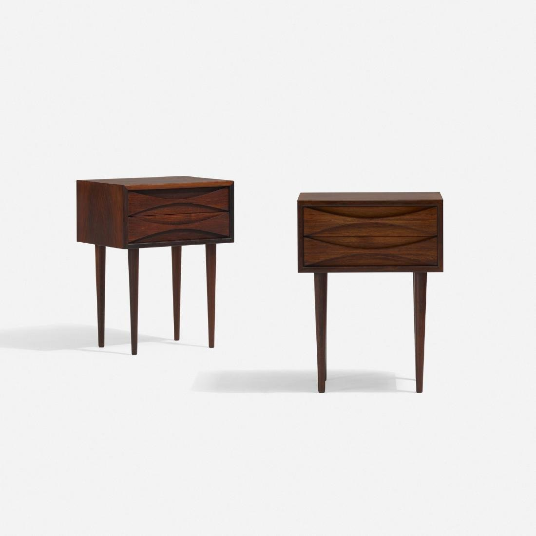 Arne Vodder, nightstands, pair