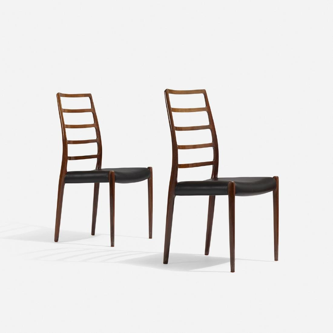 Niels O. Moller, dining chairs, pair - 2