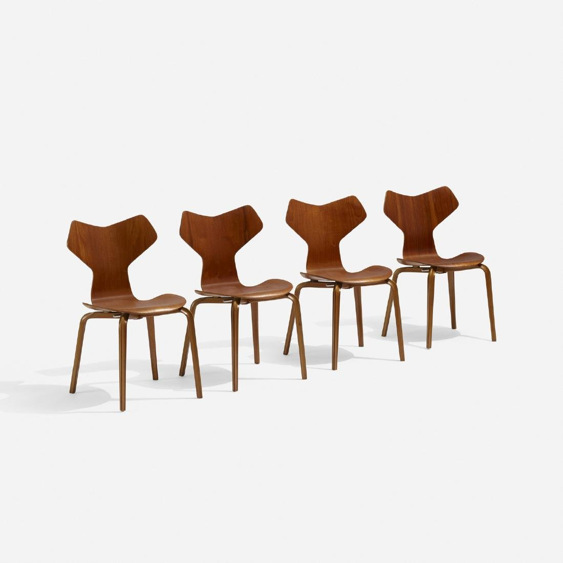 Arne Jacobsen, Grand Prix dining chairs, set of four - 2