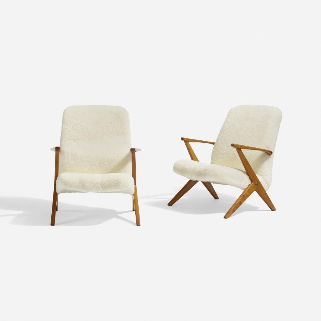 Bengt Ruda, lounge chairs, pair