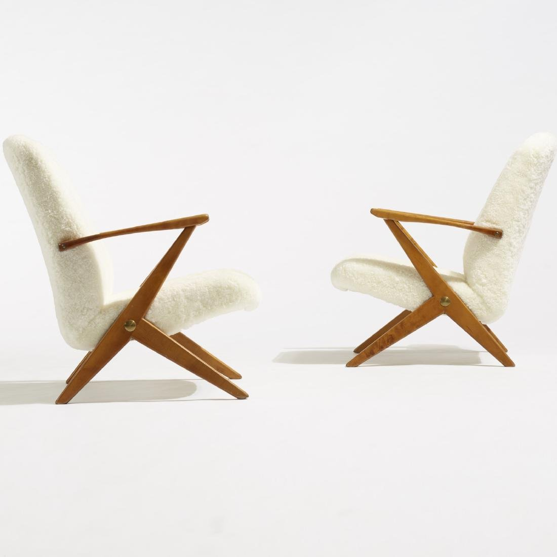Bengt Ruda, lounge chairs, pair - 3