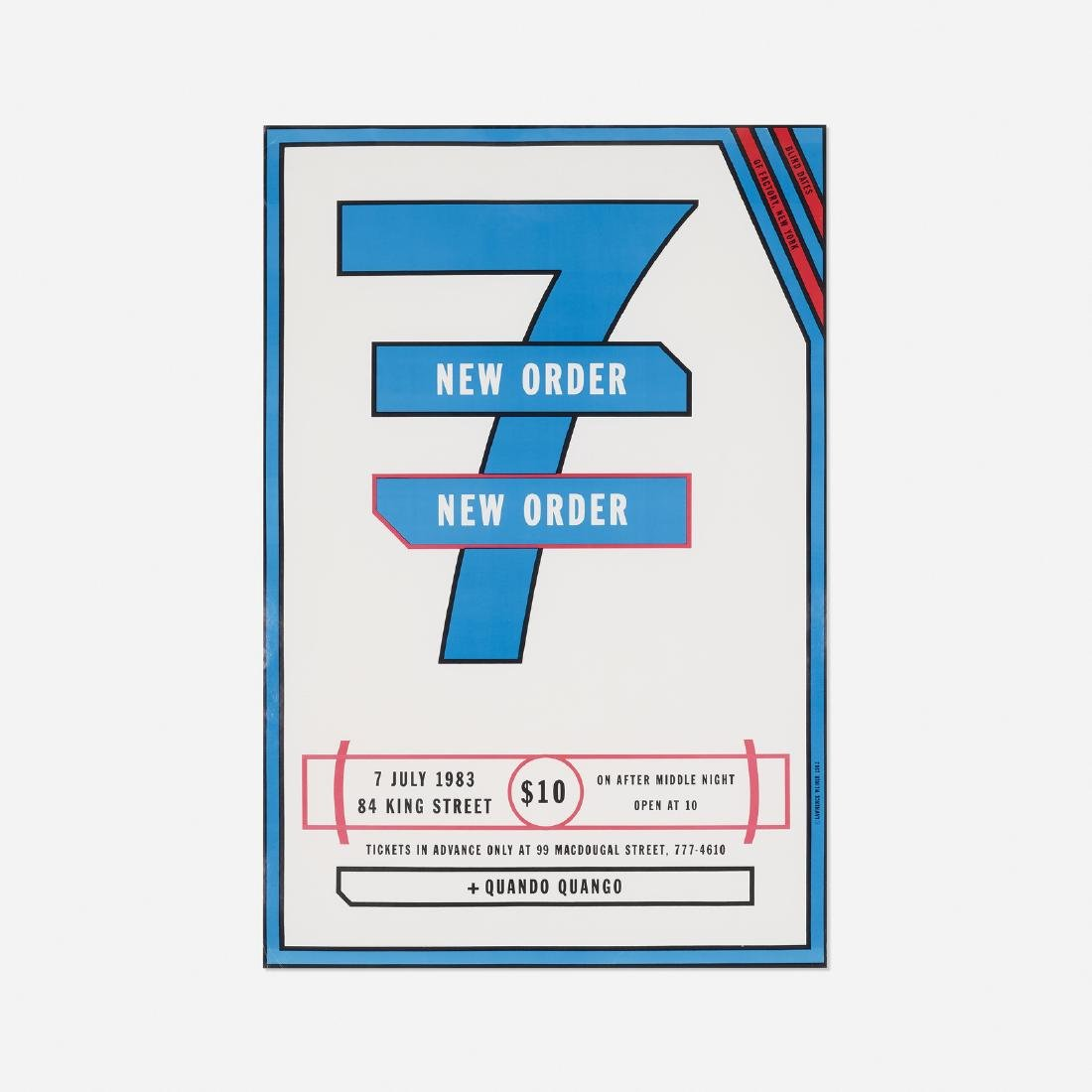 Lawrence Weiner, New Order poster