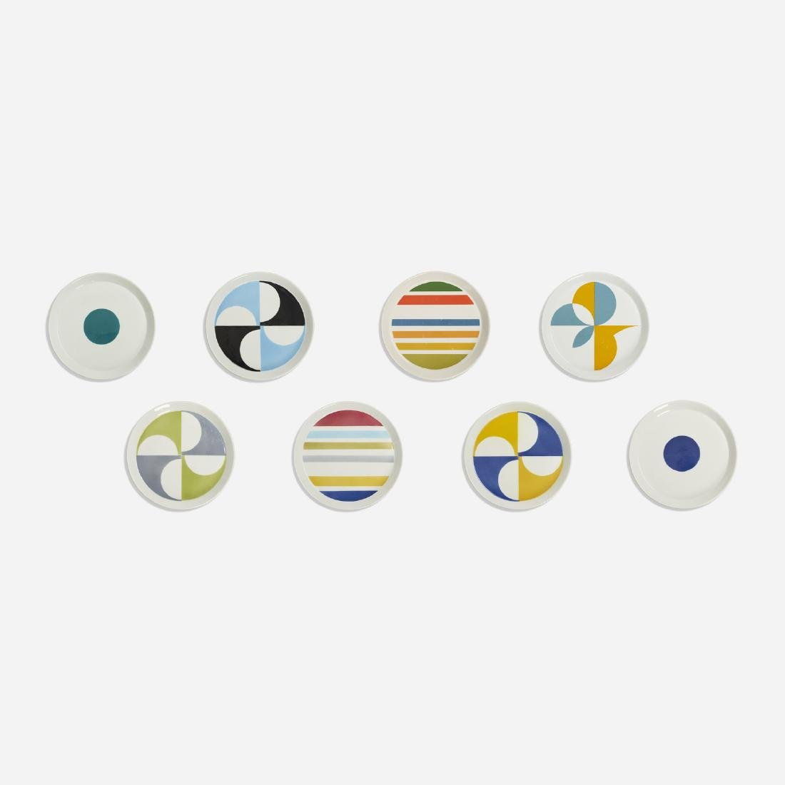 Gio Ponti, plates, set of eight