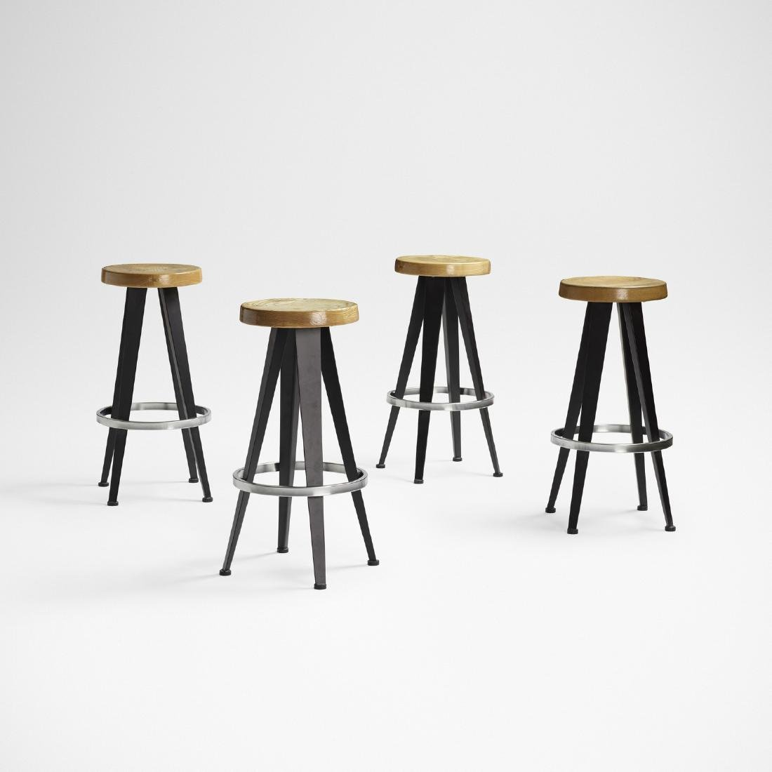 After Jean Prouve, stools, set of four