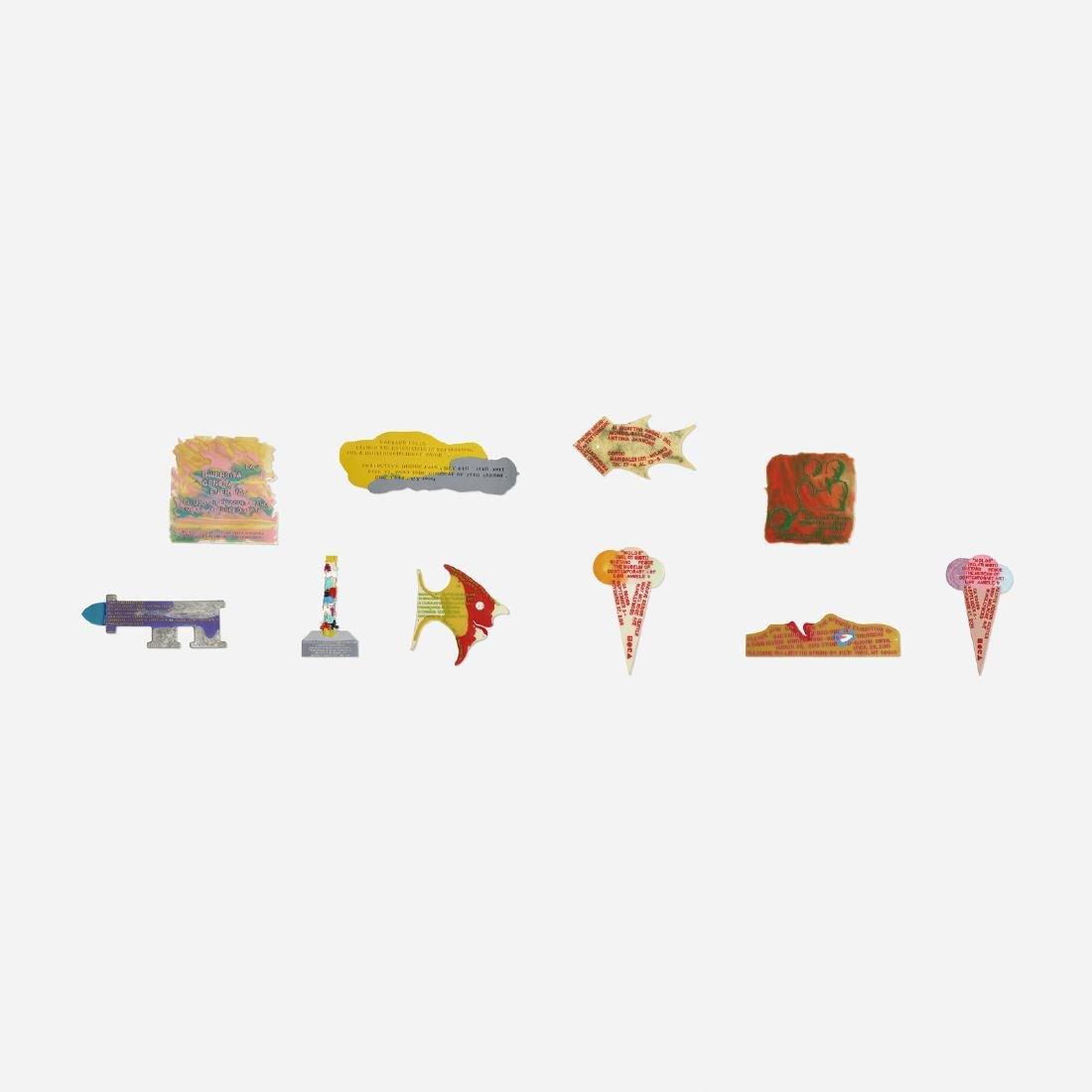 Gaetano Pesce, collection of ten invitations