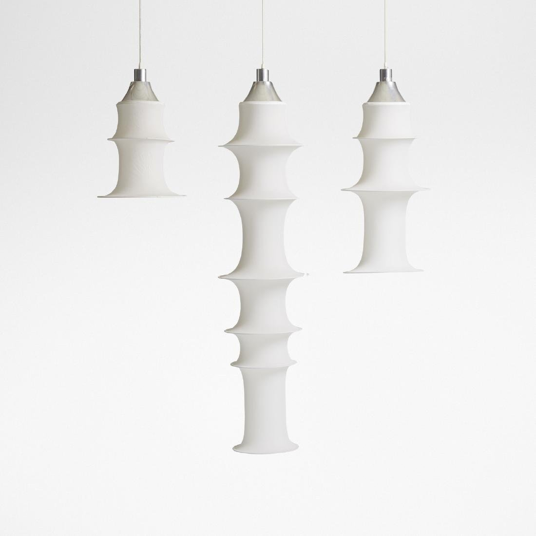 Bruno Munari, 3 Falkland hanging light fixtures