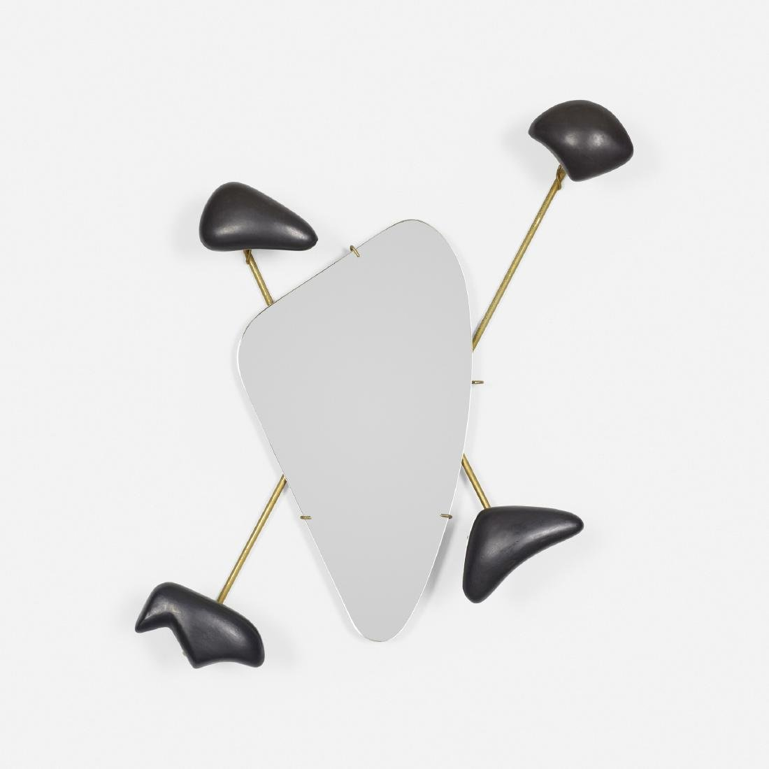Georges Jouve, wall-mounted coat rack with mirror