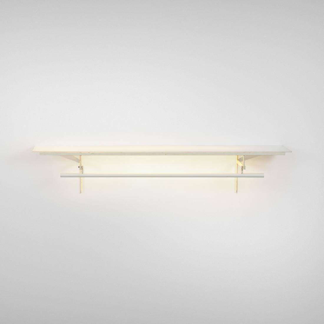Paul Rudolph, custom illuminated shelf, 23 Beekman Pl.