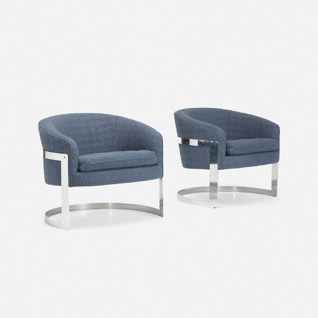 Milo Baughman, lounge chairs, pair