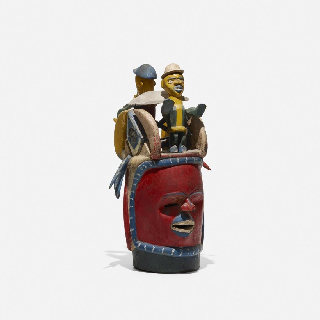 Yoruba artist, Gelede mask