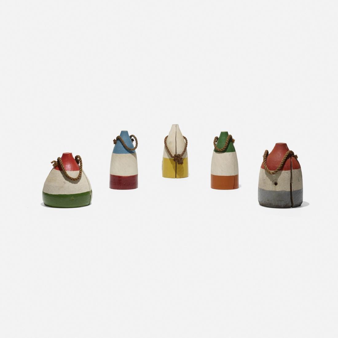 American, miniature lobster buoys, set of five - 2
