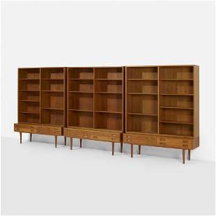 Poul Hundevad, bookshelves, set of three