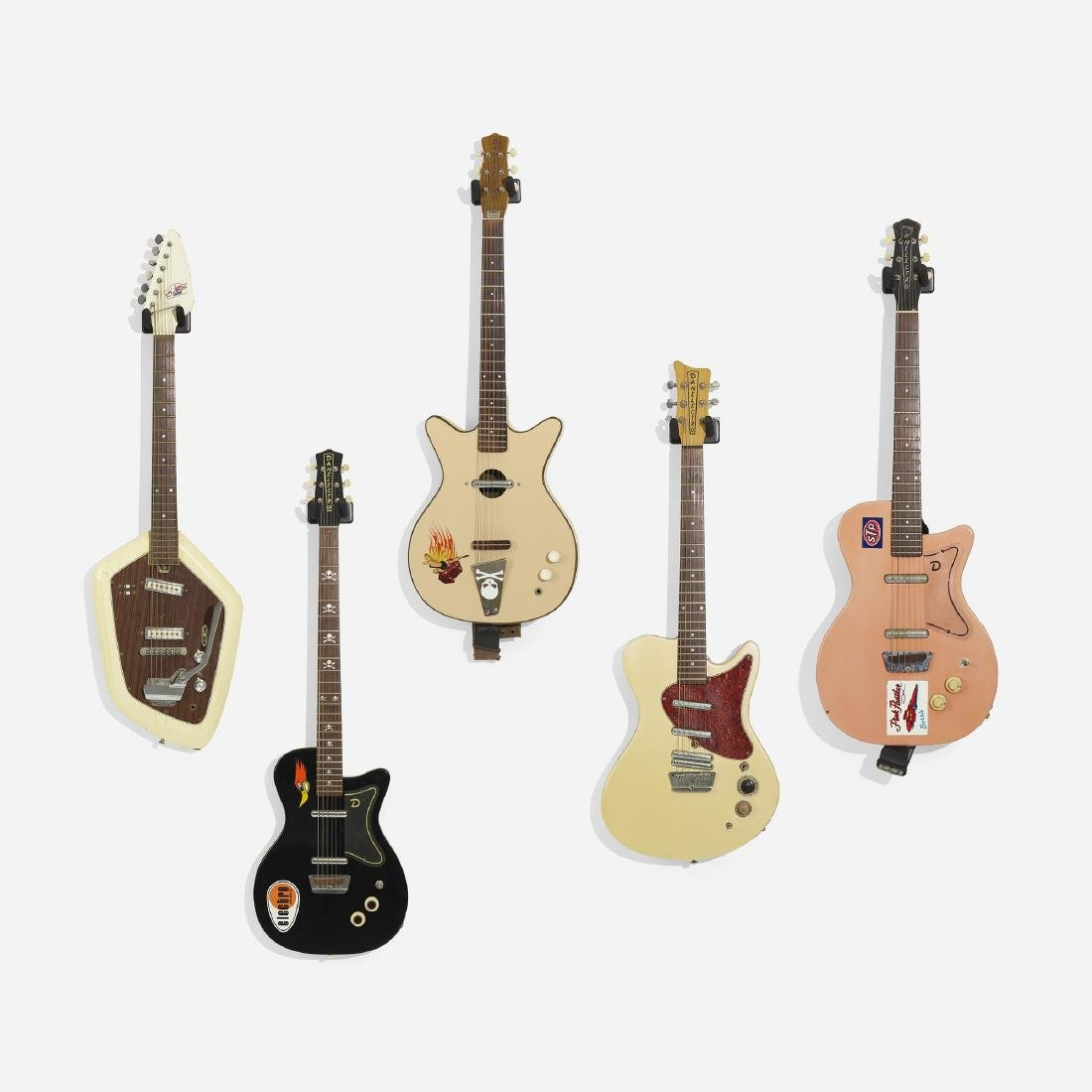 Danelectro, electric guitars, set of five