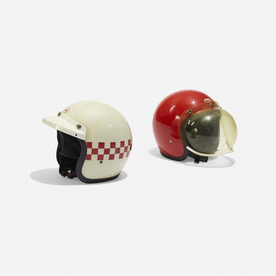 Bell, motorcycle helmets, set of two