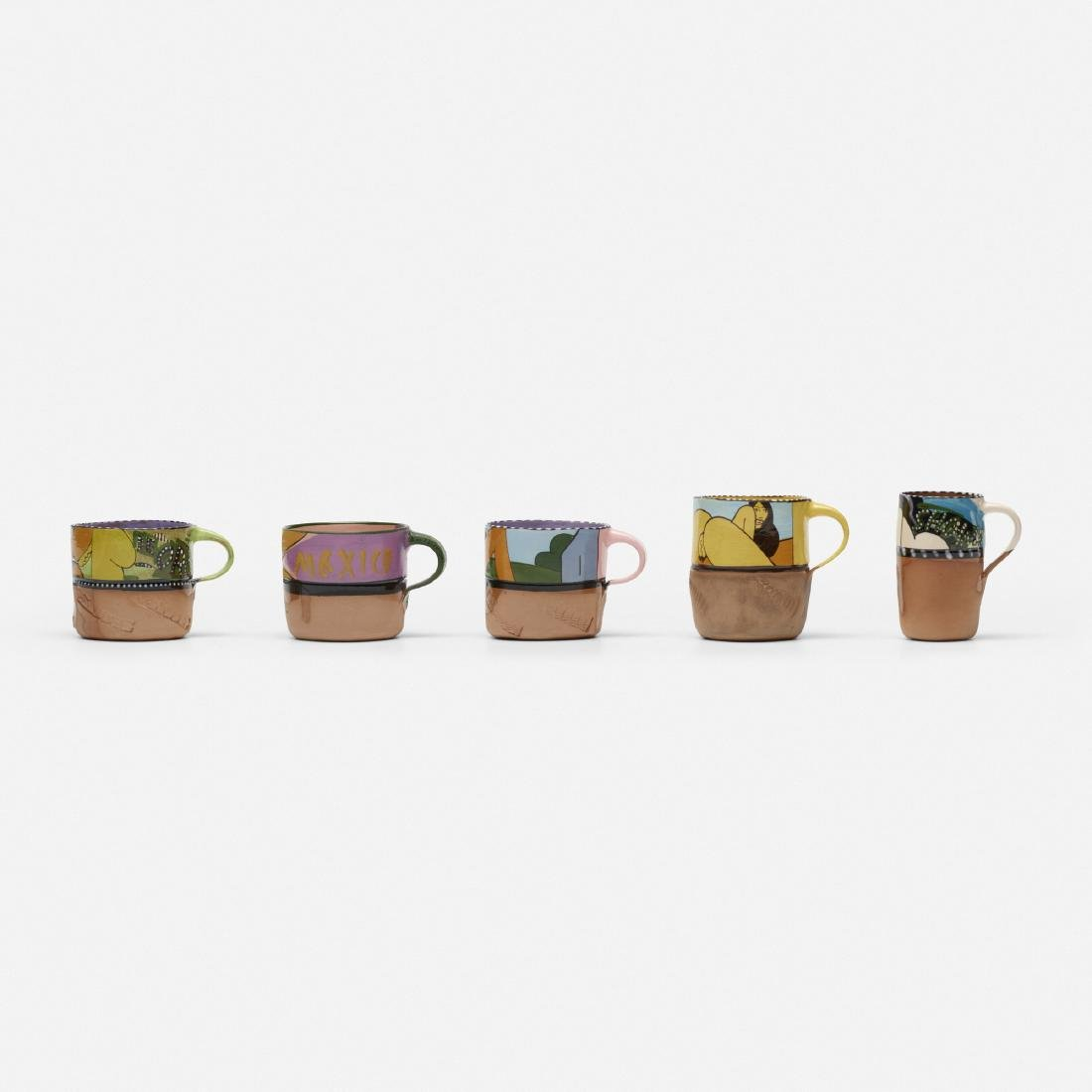 Ken Price, Erotic cups, set of five - 2