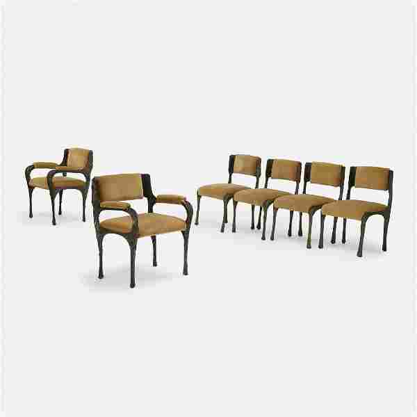 Paul Evans, dining chairs, set of six