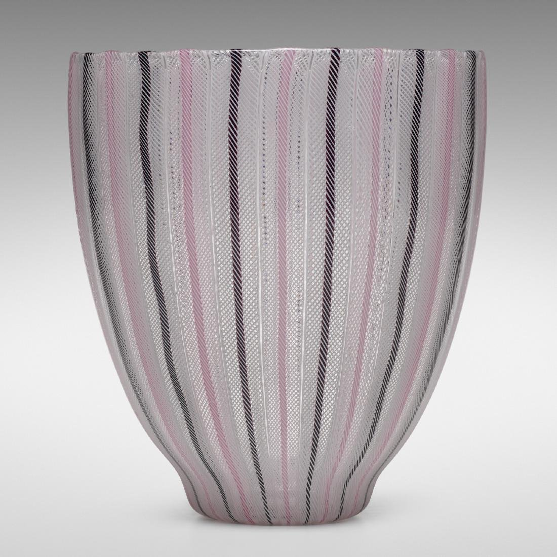 Paolo Venini, Zanfirico vase, model 3784