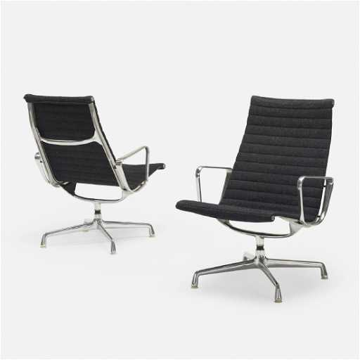 Charles And Ray Eames Aluminum Group Lounge Chairs