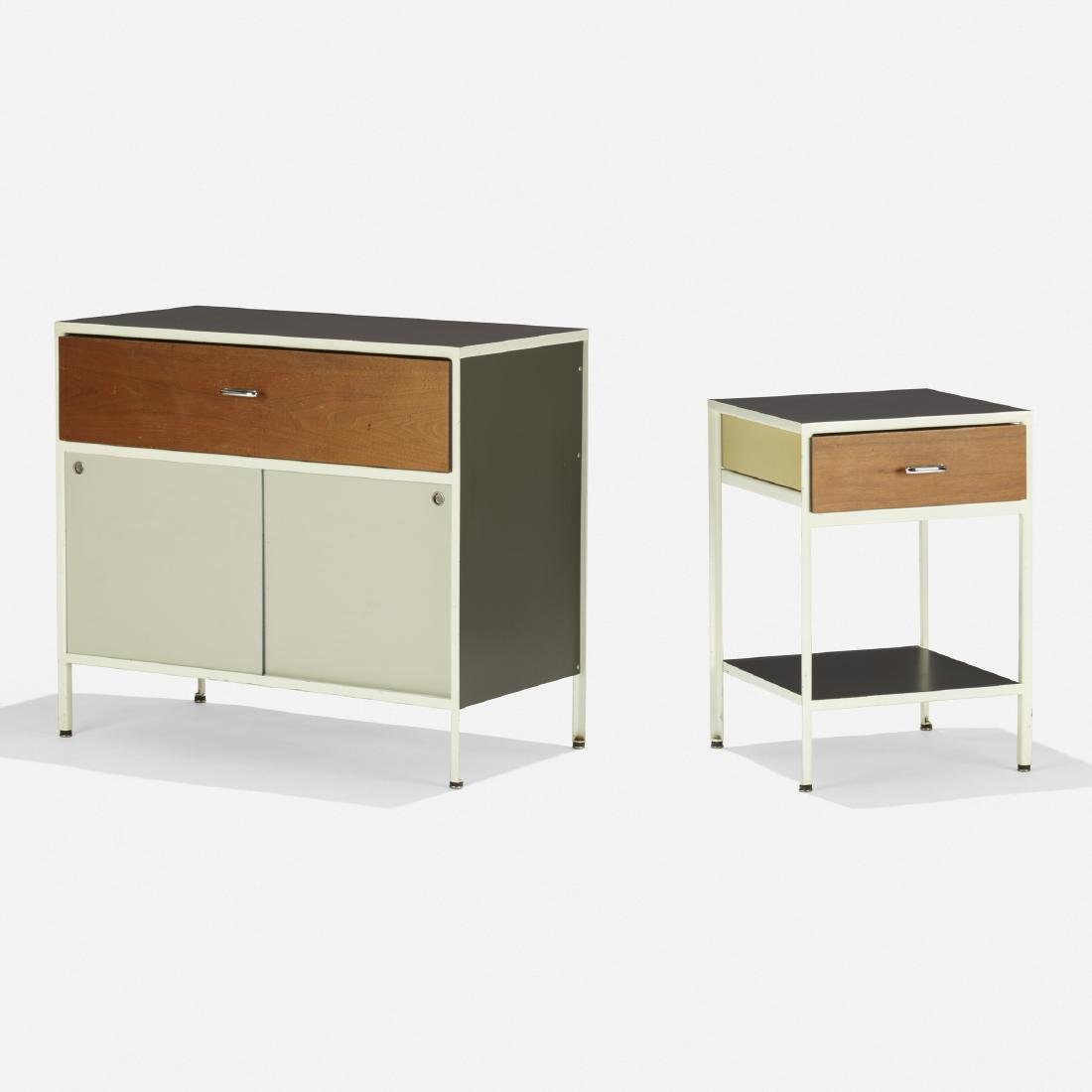 George Nelson & Assoc, Steelframe cabinet, nightstand