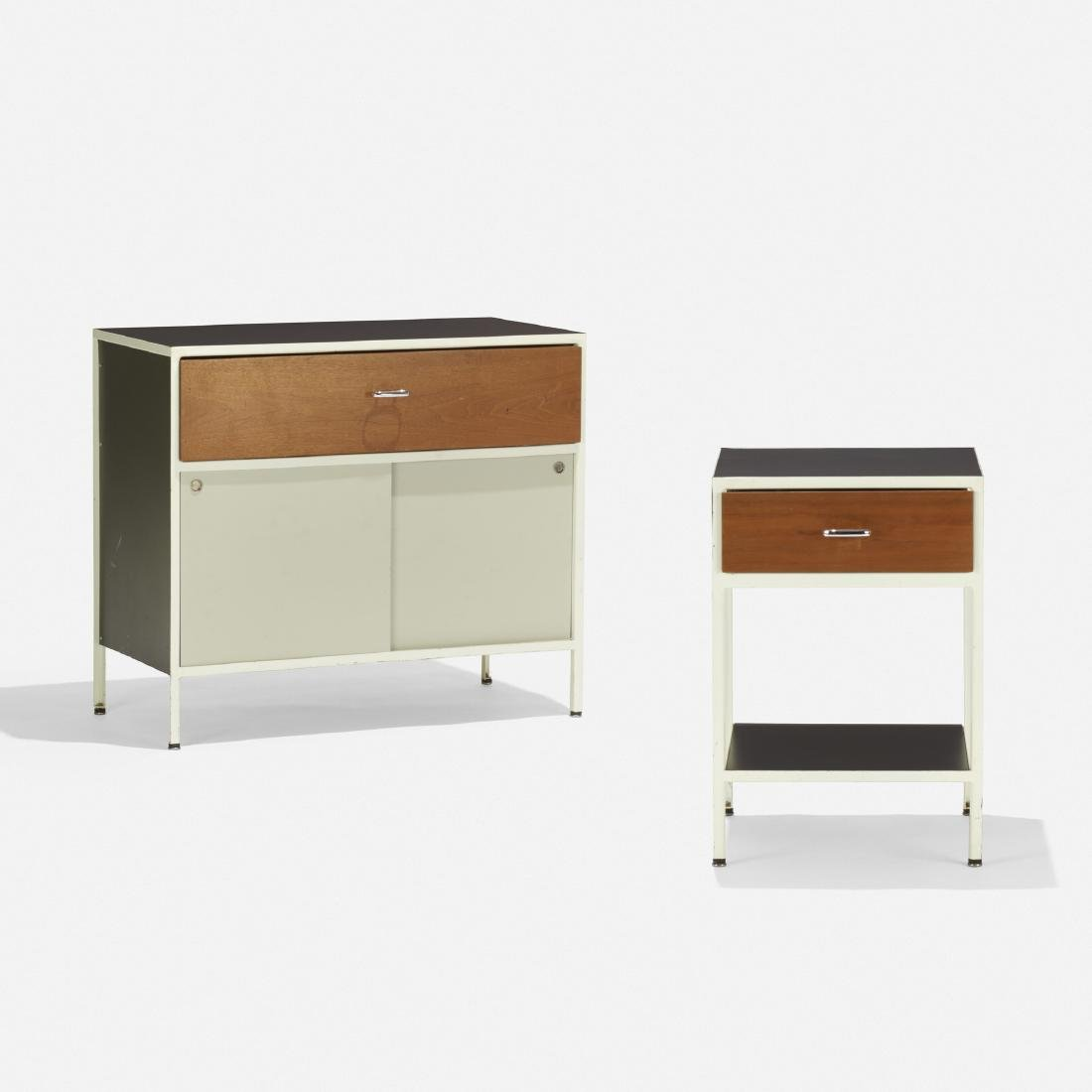 George Nelson & Assoc, Steelframe cabinet, nightstand - 2