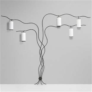 In the manner of Jean Royere, luminaire