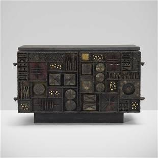 Paul Evans, Important Custom Sculpture Front cabinet