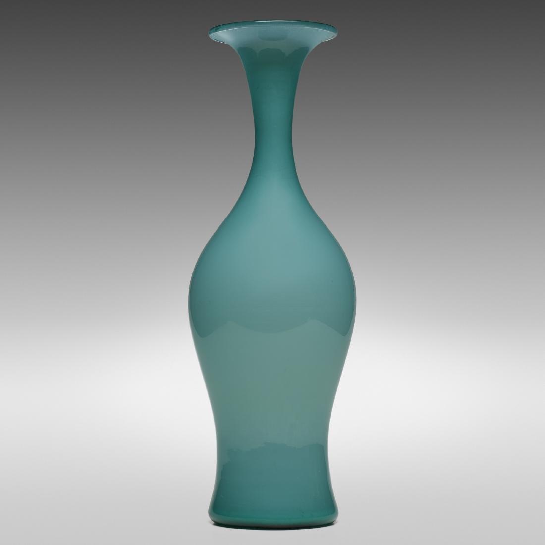 Paolo Venini, Monumental Opalino vase, model 3556