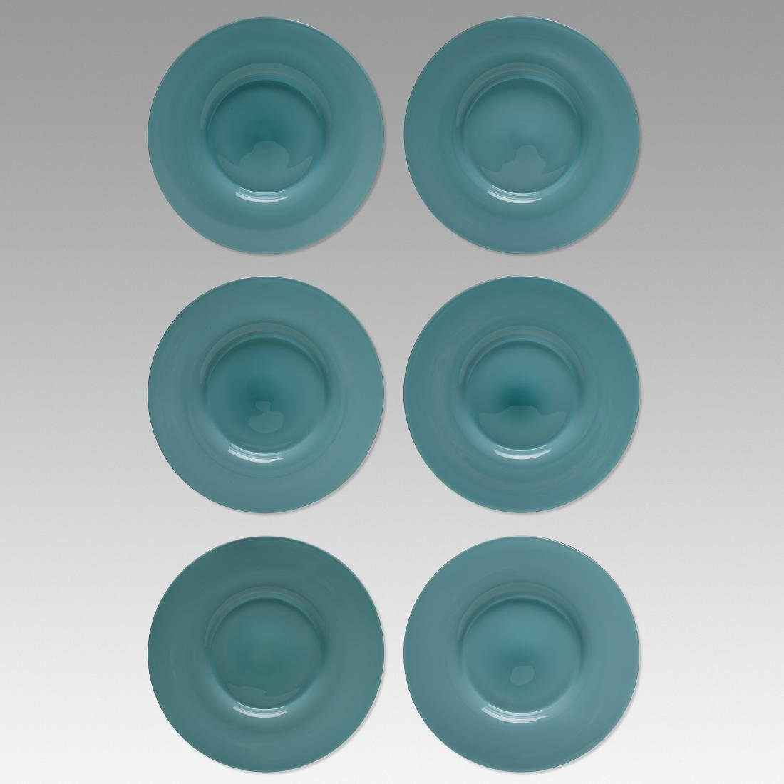 Paolo Venini, Opalino plates, set of six