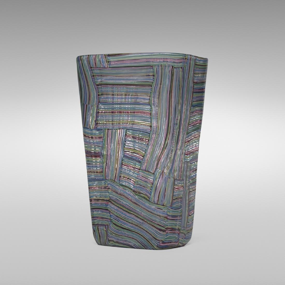 Paolo Venini, Rare Mosaico Tessuto vase, model 3850