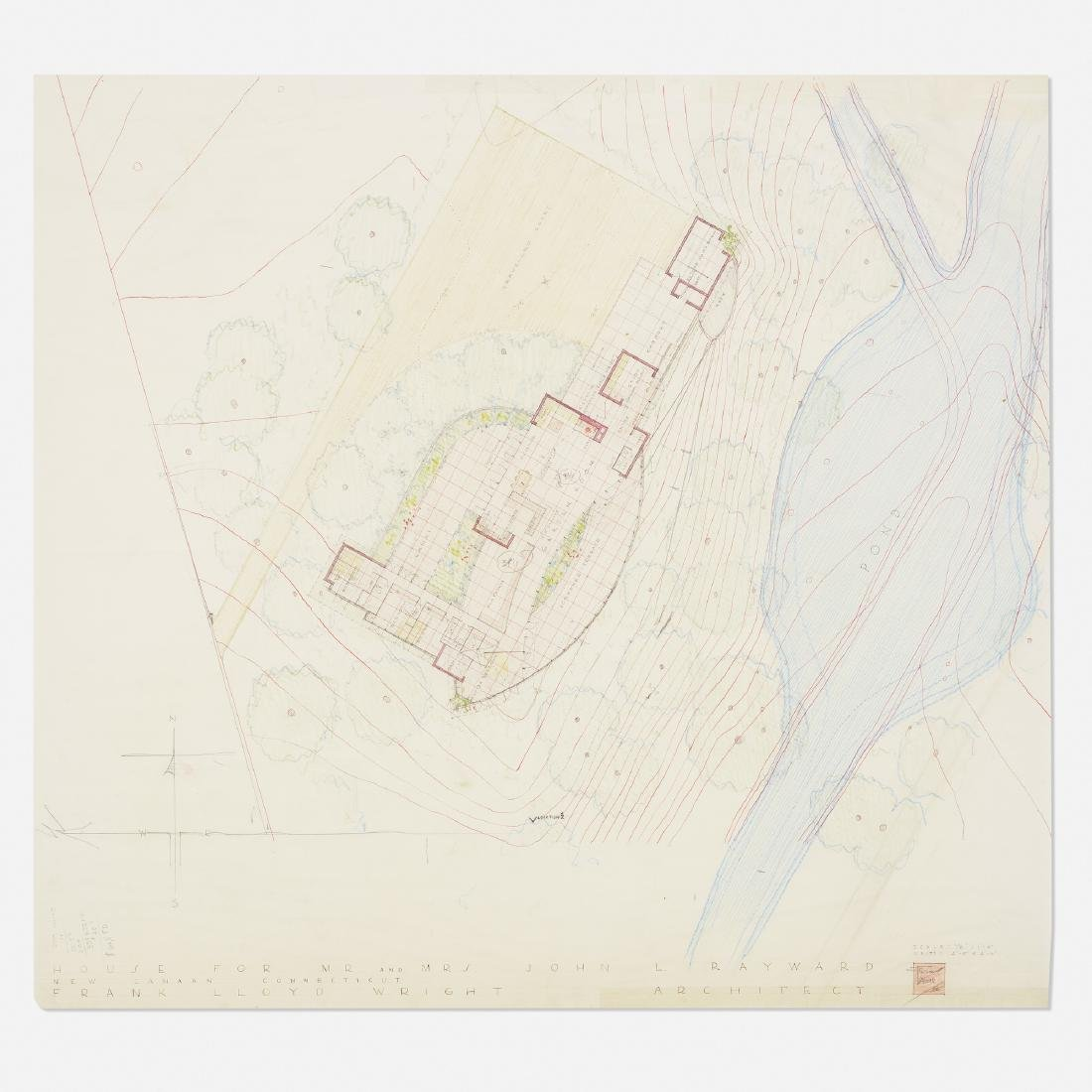 Frank Lloyd Wright, Plan for the John L. Rayward House