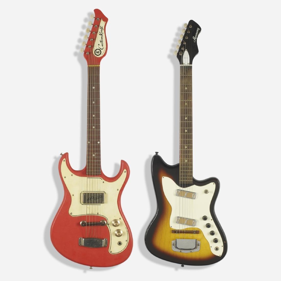 Custom Kraft and Harmony, electric guitars, set of two